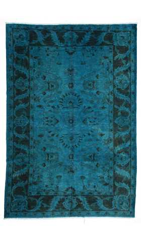 Over-dyed Turkish Usak Rug