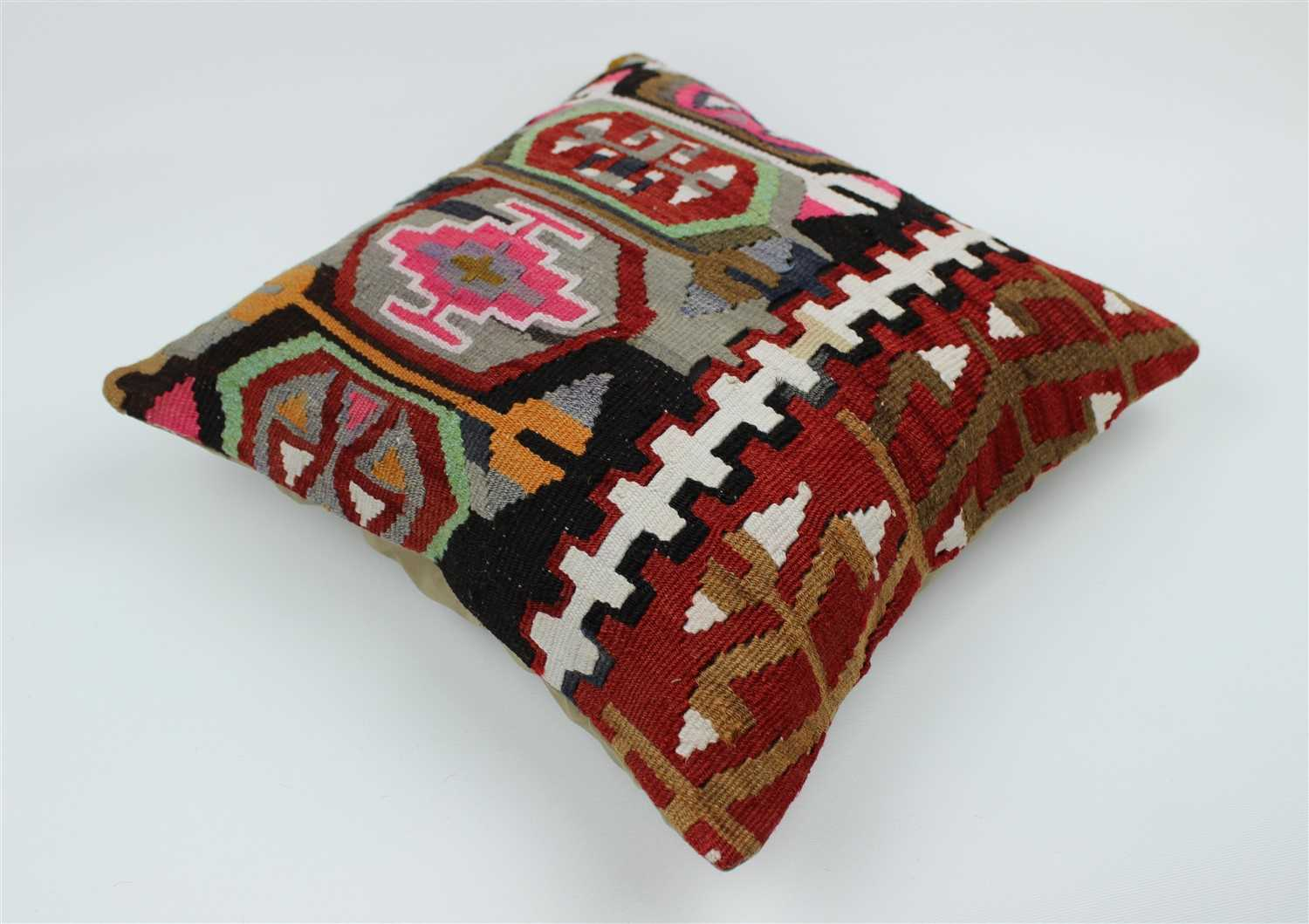 kuo red kilim kathy pillow detail x product black home ataylana