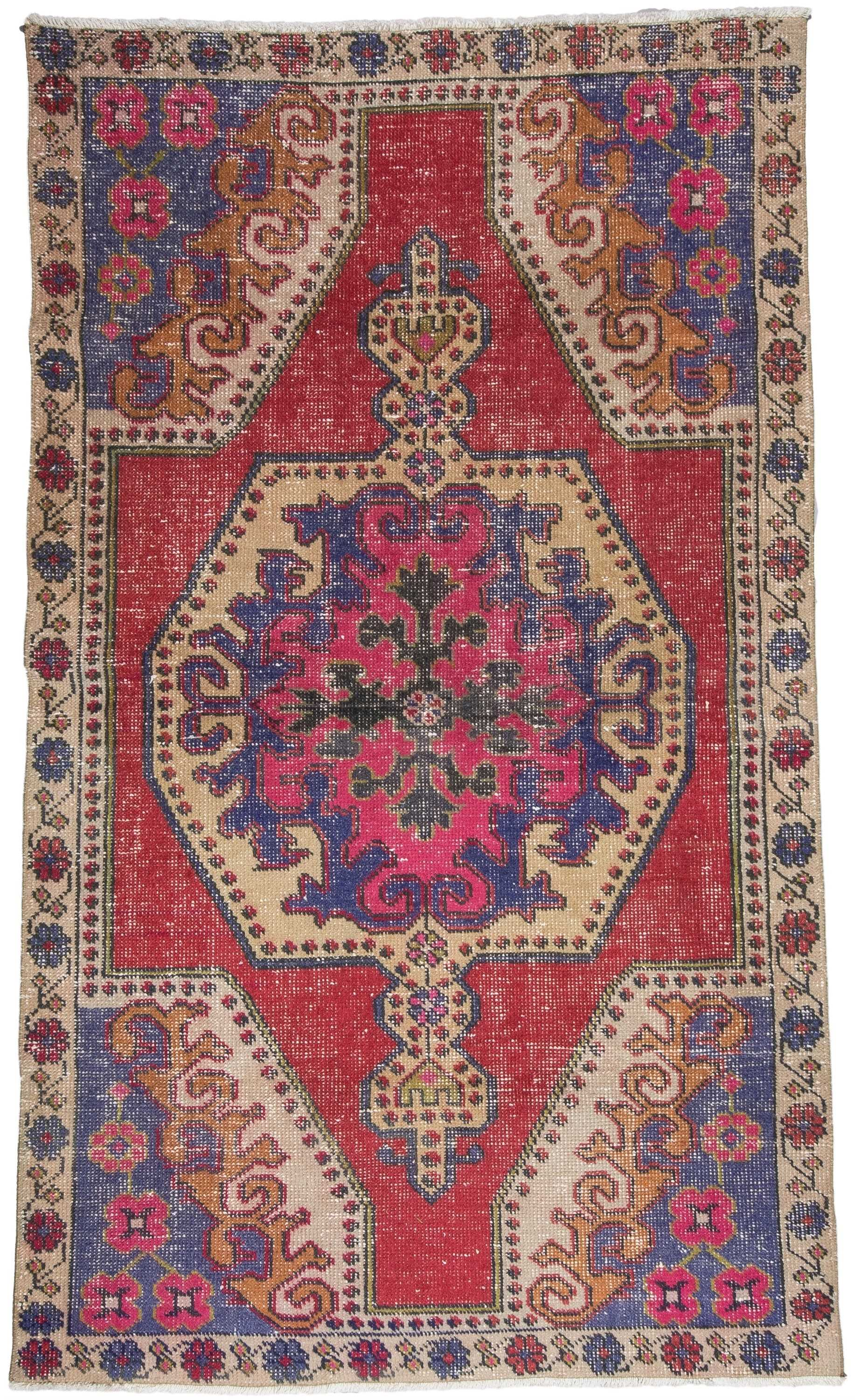 Vintage Turkish Rug 1496