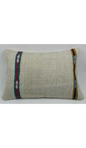 Lumbar Hemp Kilim Pillow