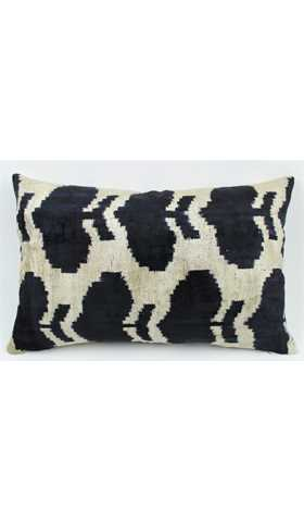 Velvet Silk Ikat Pillow