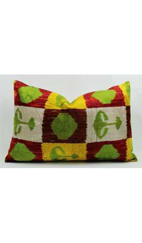 Silk İkat Pillow Cover