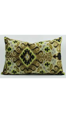 Ikat Silk Pillow Cover