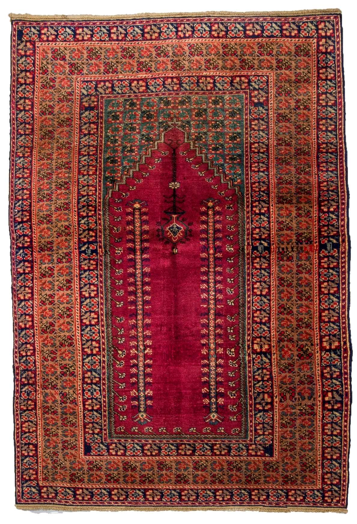 Vintage Turkish Prayer Rug 4748