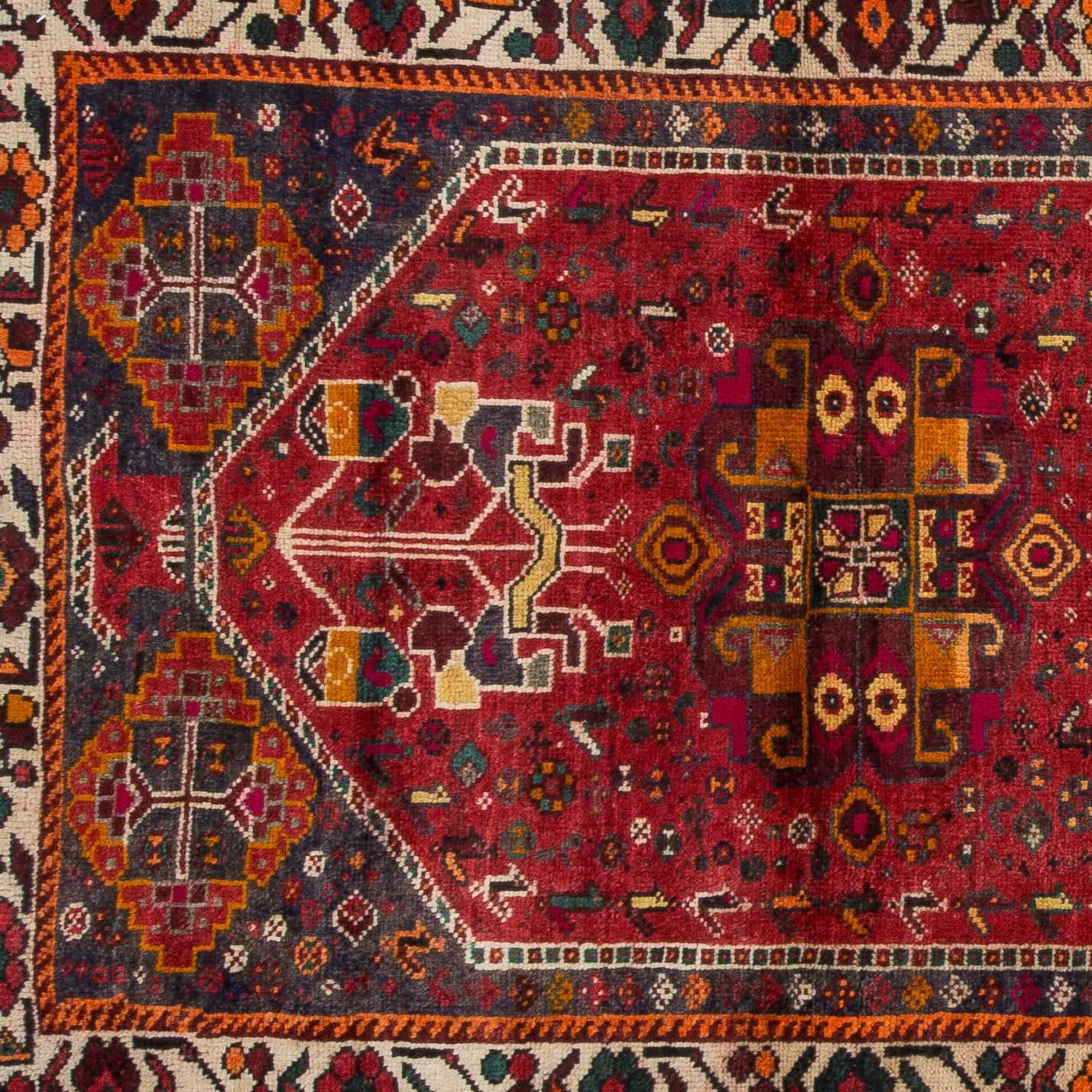 Persian Tribal Rugs: Vintage Tribal Persian Shiraz Rug