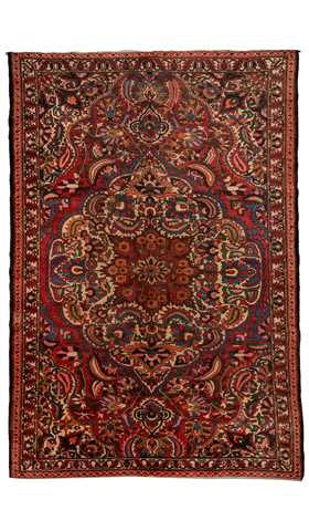 Decorative Persian Rug, Area Size Rug, Persian Art