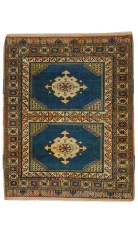 Decorative Handwoven Vintage Rug
