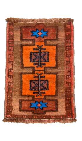 Vintage Kars Rug, Turkish Carpet