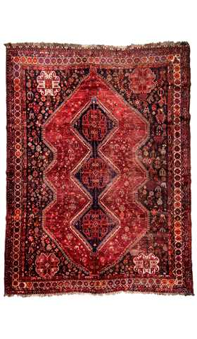 Vintage Tribal Persian Shiraz Rug
