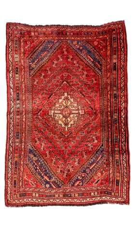 Antique Persian Handwoven Shiraz Carpet, 1890s