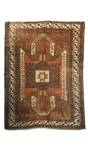 Vintage Turkish Kars Rug with Modern Tribal Style