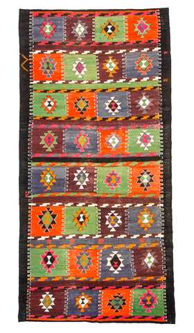 Multi Color Turkish Kilim Rug